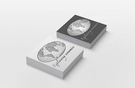 business card about economy